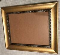 "Decorative Gold Tone Hanging Resin Photo Frame Rectangular 8"" x 10"" Landscape"