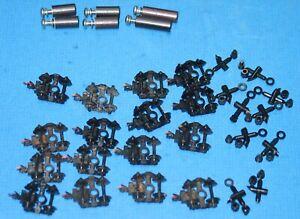 18 USED MICRO TRAINS N Scale trucks KNUCKLE (KADEE-LIKE) couplers plastic wheels