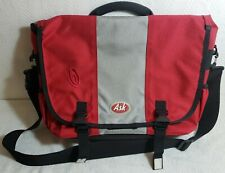 Timbuk2 Red Gray Black Nylon Messenger Bag Padded Back w/Ask.com Logo New!