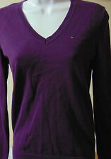 Tommy Hilfiger Women's Purple Extra Small Cotton Top