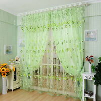 Luxury curtains curtains window sheer voile tulip home house cute pattern