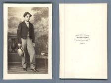 Richebourg, Paris, à identifier vintage CDV albumen carte de visite,  CDV, tir