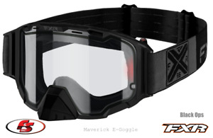 New 2021 FXR MAVERICK Snowmobile E-GOGGLE 21 Electric heated lens Black ops