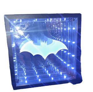Batman Bat Man Infinity Light mirror bat man Logo hanging/table decor marvel VG