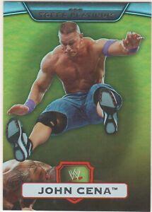 JOHN CENA - GOLD 08/50 PARALLEL CARD #1 - WWE PLATINUM 2010 TOPPS