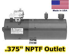 Hydraulic DC Power Unit, Pump, Motor, Reservoir - 2 Gal - No Valve - NPTF Outlet