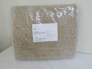 Pottery Barn Hudson Heathered Velvet Sham Luxe Cotton Soft Oatmeal EURO NEW