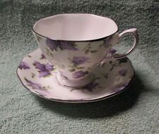 Royal Albert Cup & Saucer Lilac Lane Platinum Archive Collection New 2000