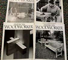 (4 )  AMERICAN WOODWORKER MAGAZINES, 1991. NUMBERS 18-21, FEB. APRIL, JUNE, AUG.