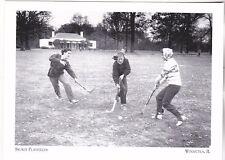 "+PC-Postcard-""Skokie Playfield"" Hockey Team Practices"" @ Winnetka, IL. (A274-8)"