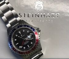 Steinhart Ocean One GMT Submariner Pepsi Bezel Full Sized Divers Watch Automat