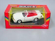 1/20 Guiloy MERCEDES 500SL CONVERTIBLE White Die Cast Model #zt