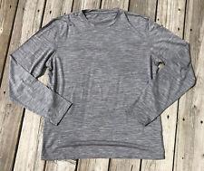 Icebreaker New Zealand Merino Wool Baselayer Long Sleeved Pullover Gray Men's XL