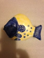 Blue Yellow Fish Napkin Holder Jay Willfred Andrea by Sadek Portugal