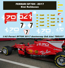 1/43 FERRARI SF70H 2017 70TH ANNIVERSARY DECALS  VETTEL RAIKKONEN DECAL TBD337