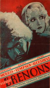 Case of Sergeant Grischa Original Movie Herald from the 1930 Movie