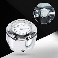Professionnel Horloge à Cadran Blanc Guidon De Moto en Chrome Pour Glide
