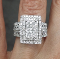 Steal Deal! 2.00CT Natural 100% Genuine Cluster Diamond Fashion Ring in 14K Gold