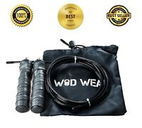 Speed Jump Rope Ball Bearing Gym Boxing Workout Adjustable Skip Cable Bearings