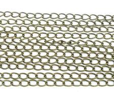 10m Collana ad anelli collana BLOGGER BRONZO venduto al metro 3,5 x 5,5 mm