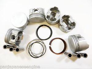 "Premium Pistons/Rings (.020""=.5mm) for 3.0L 91-01 Ford Mazda Mercury v6 vin u/s"