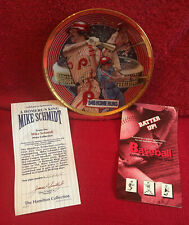 "Sports Impressions Mike Schmidt ""Home Run King"" 6 inch Plate Hamilton Collection"