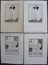CURIOSA : Sylvain SAUVAGE Double Suite érotique + remarque SOLANGE D'Aniell 1927