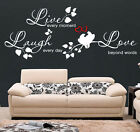 WALL QUOTES LIVE LAUGH LOVE Wall Stickers Wall Art Decal Stickers  D50