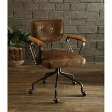 Acme Furniture Harith Executive Top Grain Leather Office Chair in Retro Brown