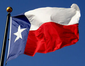 8'x12' Texas Flag Cotton 8x12 Flag Banner 100% Embroidered Sewn 100% Cotton