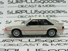 Greenlight 1:64 Scale LOOSE White 1989 FORD MUSTANG 5.0 GT Foxbody Diorama Car