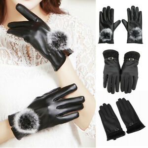 Womens Leather Winter Gloves Design for Texting and Driving Gloves Touch Screen