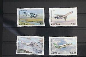 Sambia 607-610 ** postfrisch Flugzeuge #WW191
