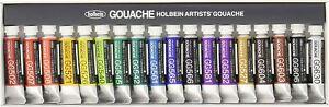 Holbein Artists' Gouache opake Aquarellfarbe 18 Farben Set G704 (Japan Import)