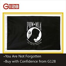G128 – POW/MIA Prisoner of War Flag | 3x5 ft | DOUBLE SIDED Embroidered
