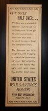 1945 United States War Savings Bonds Advertisement
