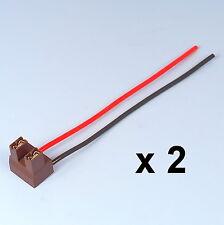 2 x h7 2 pin per fari sostituzione riparazione portalampada Socket Connettore a Spina Filo