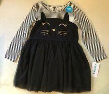 New Carter's Girls 5T Halloween Black Kitty Cat Dress Tutu Skirt Fun Dress Up