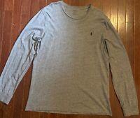 Mens Polo Ralph Lauren Casual L/S T-Shirt Grey Size XL