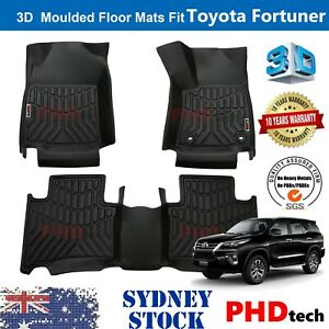 Prime Quality 3D TPE All Weather Floor Mats Liner Fit Toyota Fortuner 2015-2021