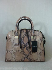 NWT FURLA Nude Blush Python Emb Leather Zenith/Twiggy Bugatti/Satchel - $1040