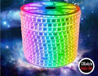 220V 240V 5050 120LEDs/m RGB LED Strip Light Double Row Flexible Rope Wire