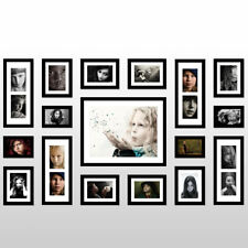Wall Mounted Black Rectangle Wood 17PCS Photo Picture Frames Home Decor Set