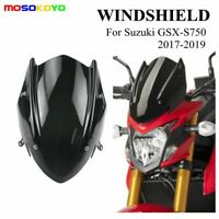 For Suzuki GSX-S750 GSXS750 17-19 Windscreen Windshield Shield Screen + Bracket