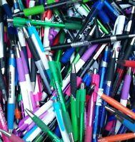 40 Wholesale Lot of Misprint Pens, Ball Point, Plastic, Retractable