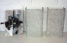 Zwei Wandlampen im Kalmar oder Hillebrand Stil - Dickes Eisglas - 60-70er Jahre