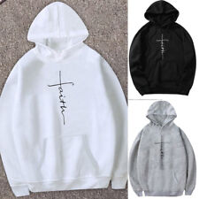 Faith Hoodie Jesus Religious Worship Sweatshirt Christianity Pullover Hooded