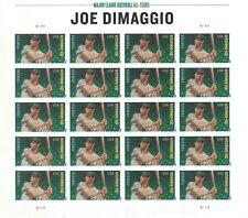 Joe Dimaggio U.S. Forever NDC Sheet of 20 Forever Stamps Scott 4697