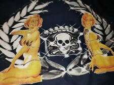 FELON CLOTHING SKULL bikini girls SHORT SLEEVE Blue SHIRT MENS SIZE XL