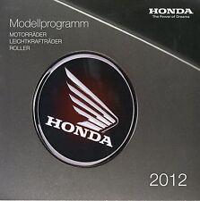 Prospekt 2012 Honda NC 700 X Integra VT 1300 CX VFR 800 Vision 110 PCX Transalp